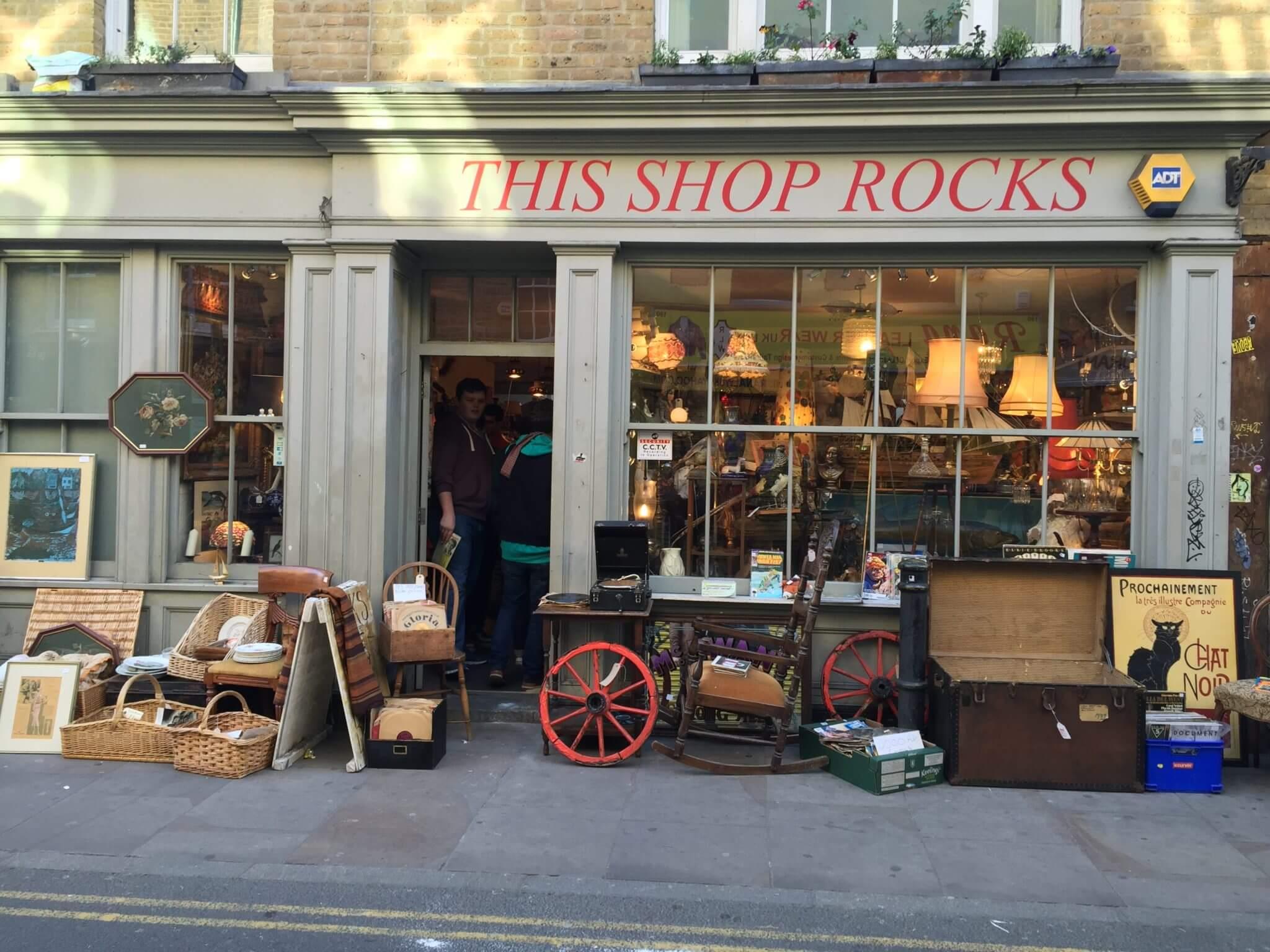 Une boutique à Shoreditch
